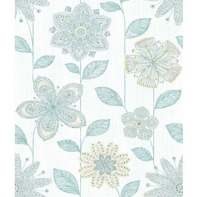 Batik Floral Peel and Stick Wallpaper