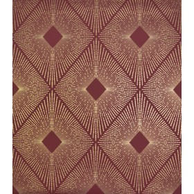 NW3588 Harlowe Red/Gold Wallpaper