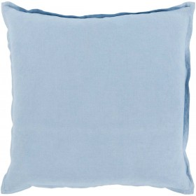 Orianna Pillow with Down Fill in Sky Blue | OR012-1818D