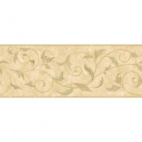 PA5570B Acanthus Leaf Vine Scroll Wallpaper Border