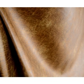 Palance Pueblo Faux Leather Brown Fabric