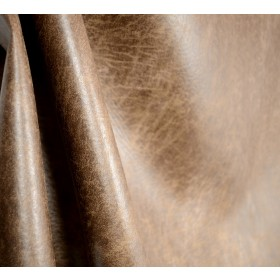 Palance Silt Brown Faux Leather Upholstery Fabric