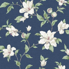 PH4631 Blue Magnolia Vine Wallpaper