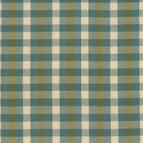 Pixie Plaid Basil Kasmir Fabric
