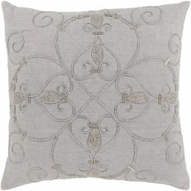 Pauline Pillow with Down Fill in Gray | PN002-2020D