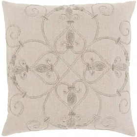 Pauline Pillow with Poly Fill in Light Gray   PN003-2020P