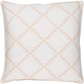 Parsons Pillow with Poly Fill in Beige | PR001-2222P