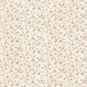 Calico Blue Busy Floral Toss Wallpaper