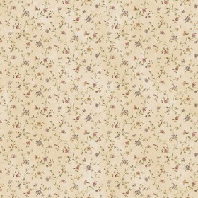 Calico Sand Busy Floral Toss Wallpaper