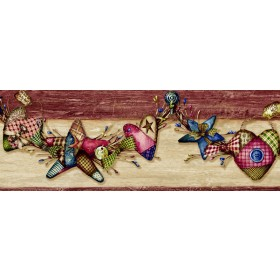 Grandel Wheat Quilted Homespun Swag Border