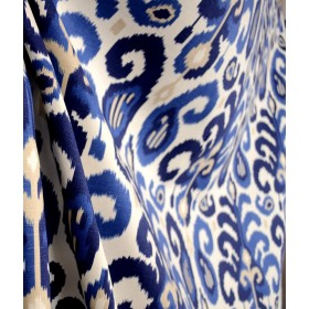 Rasul Blue 72062 5 Ikat Fabric