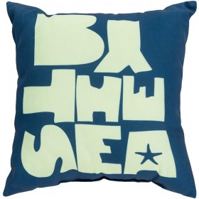 """Be """"By the Sea"""" Blue, Green Pillow 