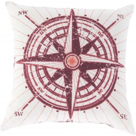 Charismatic Compass Red, Pink, Tan Pillow   RG077-2020