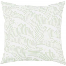 Washed by the Waves Green, Tan Pillow | RG099-1818