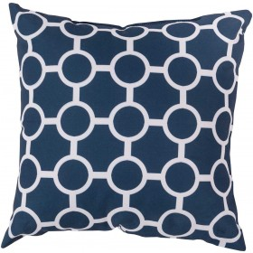 Smooth Circles Blue, Grey Pillow | RG119-1818