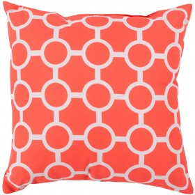 Smooth Circles Pink, Grey Pillow | RG120-1818