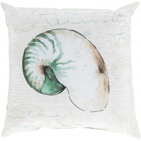 Charm by the Sea Green, Tan Pillow | RG132-2020