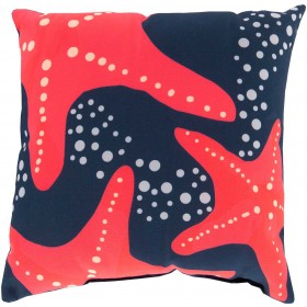 Striking Series of Starfish Blue, Pink, Grey Pillow | RG142-1818