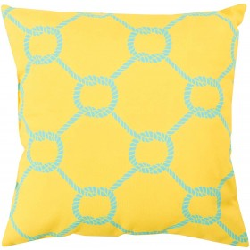 Tied up in Delight Yellow, Blue Pillow | RG144-2626