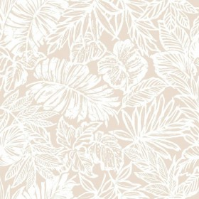 RMK11199RL Tropical Leaf Tan Peel & Stick Wallpaper