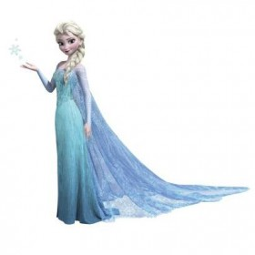 Murals Frozen Elsa Giant Wall Decal With Glitter