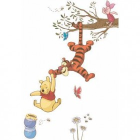 Murals Winne the Pooh Swinging for Honey Giant Wall Decal Mural