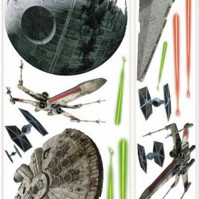 Murals Star Wars Classic Ships Giant Wall Decals Mural