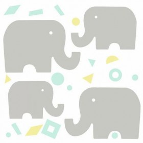 Baby + Kids Elephant Giant Wall Decal Wallpaper