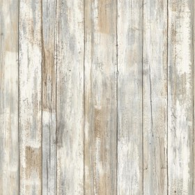 RMK9050WP Distressed Wood Tan Peel and Stick Wallpaper