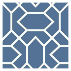 RMK9066WP Blue White Modern Geometric Peel & Stick Wallpaper
