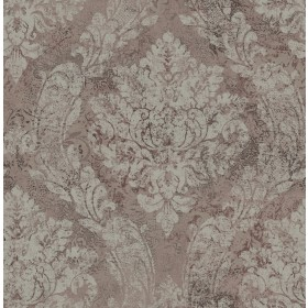 Fabriana Taupe Heirloom Damask Wallpaper
