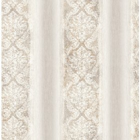 Feliciano Light Grey Ombre Damask Stripe Wallpaper