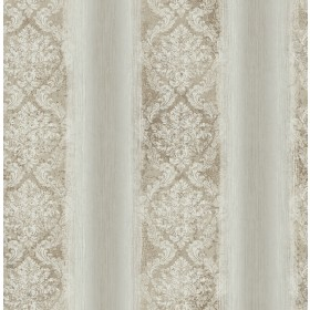 Feliciano Espresso Ombre Damask Stripe Wallpaper