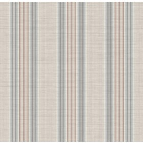 Stansie Taupe Fabric Stripe Wallpaper