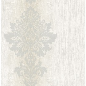 Mazzy Pearl Damask Stripe Wallpaper