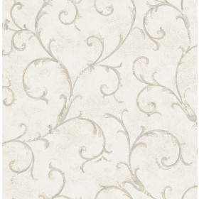 Dahna Pearl Scroll Wallpaper