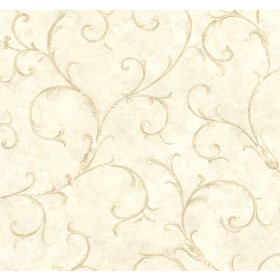 Dahna Cream Scroll Wallpaper