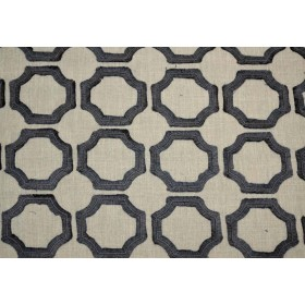 Lined Up Charcoal P Kaufmann Fabric