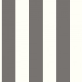 "SA9175 3"" Stripe Gray White Wallpaper"