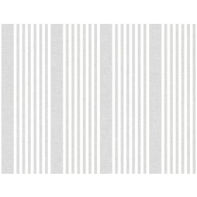 SR1582 French Linen Stripe Gray Wallpaper
