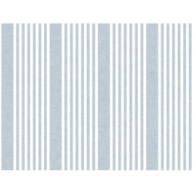 SR1584 French Linen Stripe Blue Wallpaper