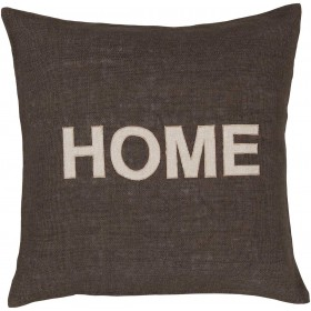 "Hot ""Home"" Green, Grey Pillow 
