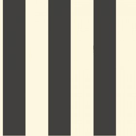 "ST5691 3"" Stripe Black White Wallpaper"