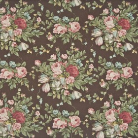 St James Park Chocolate Kasmir Fabric