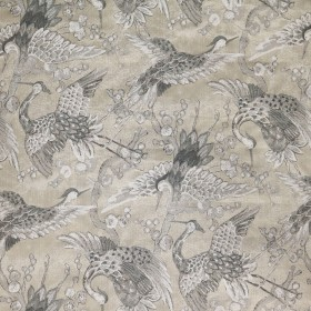 Tsuru Parchment Swavelle Mill Creek Fabric