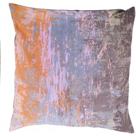Wonder of Watercolor Grey, Purple, Orange Pillow | SY043-2020D