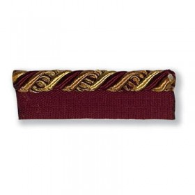 Ribbon Cord With Flange Bordeaux T30212.914.0 Kravet Trim