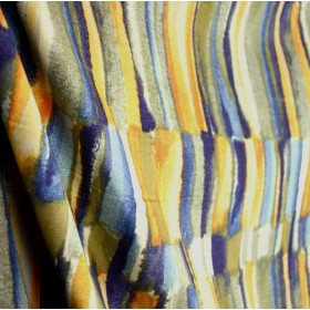 Tangiers Azure Multi Color Contemporary Fabric