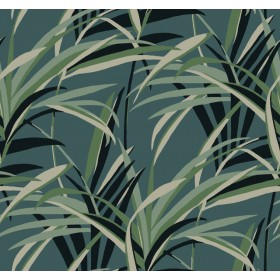 TC2607 Green Teal  Tropical Paradise Wallpaper
