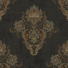 TE4105 Antique Tobacco Boulevard Damask Wallpaper